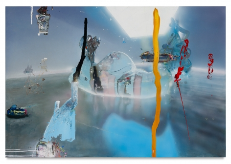 Tom LaDuke,The Blow That Hurts The Ones That Don't, 2021, Acrylic on canvas over panel, 51 1/2 x 75 inches, 130.8 x 190.5 cm,MMG#33043