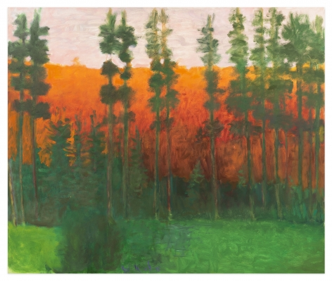 Yellowstone Silhouette, 2008, Oil on canvas, 44 x 52 inches, 111.8 x 132.1 cm,MMG#32508