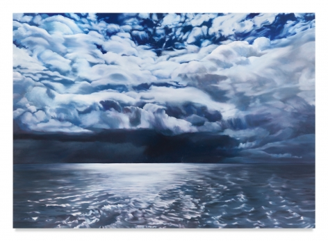 April Gornik, Sea of Light and Dark, 2019, Oil on linen, 75 x 105 inches, 190.5 x 266.7 cm, MMG#31794