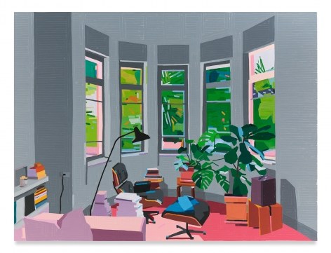 Living Room, 2020,Oil on canvas,59 x 78 3/4 inches,150 x 200 cm,MMG#32035