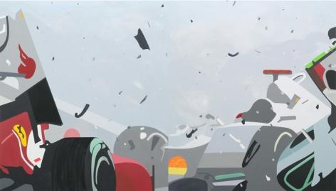 Crash, 2015, Acrylic on canvas, 82 x 144 inches (diptych), 208.3 x 365.8 cm, A/Y#22238