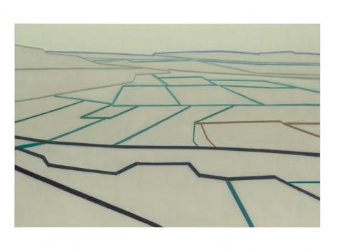 "695 (A van Gogh perspective, after ""La Crau""), 2014, Oil on linen, 60 x 90 inches, 152.4 x 228.6 cm, A/Y#22290"