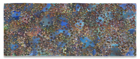 TISFORTRUTHANDIISFORINTERNAL, 2019,Epoxy resin and pigments on wood,48 x 120 inches,121.9 x 304.8 cm,MMG#30895