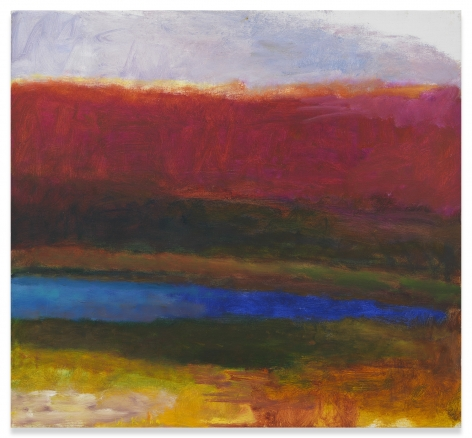 A Blue Pond, 1990, Oil on canvas, 24 x 26 inches, 61 x 66 cm,MMG#31419