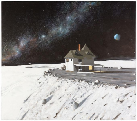Julio Larraz, The Point House at Cape Laplace, 2014, Oil on canvas, 74 1/2 x 84 1/2 inches, 189.2 x 214.6 cm, A/Y#22034
