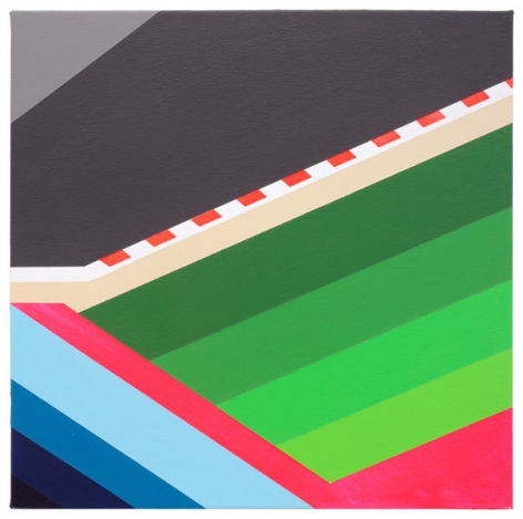 Cover Track, 2014, Acrylic on canvas, 15 3/4 x 15 3/4 inches, 40 x 40 cm, A/Y#22226