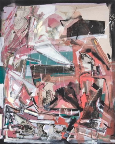 Iva Gueorguieva, Second Generation, 2014, Acrylic, collage, and oil on linen, 29 x 23 inches, 73.7 x 58.4 cm, A/Y#22161