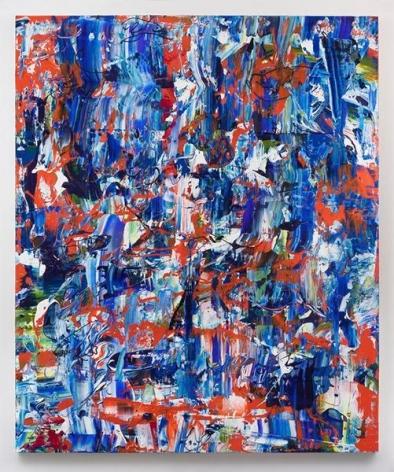 Michael Reafsnyder, Buoyant Buddies, 2016, Acrylic on linen, 72 x 60 inches, 182.9 x 152.4 cm, AMY#28422