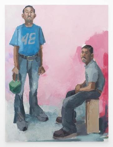 Deni & Francisco, 2015, Oil on canvas, 80 x 60 inches, 203.2 x 152.4 cm, MMG#27977