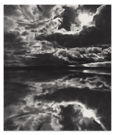 April Gornik, Horizon Bent By Light, 2018, Charcoal and pastel on paper, 44 1/8 x 37 7/8 inches, 112.1 x 96.2 cm,MMG#30804