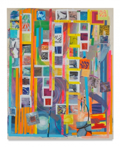 Franklin Evans, orangeorder, 2016, Acrylic on canvas