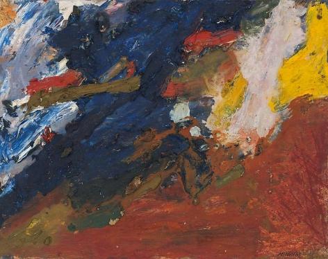 "George McNeil, ""Des Moines Landscape,"" 1969, Oil on panel, 16 x 20 inches, 40.6 x 50.8 cm, A/Y#19673"
