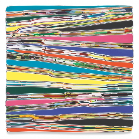 APLANTHATLACKSCOHERENCE, 2020, Epoxy resin and pigments on wood, 36 x 36 inches, 91.4 x 91.4 cm, MMG#32895