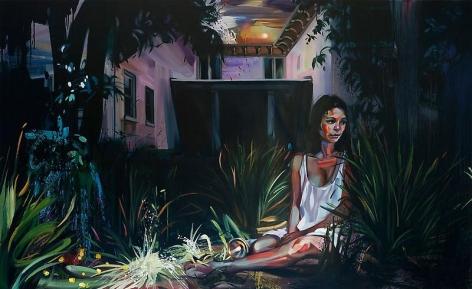 """Night Watch,"" 2011, Oil on canvas, 60 x 98.5  inches, 152.4 x 250.2 cm, A/Y#19946"
