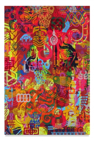 Ryan McGinness, Taipei Dangdai 4, 2019, Acrylic on linen, 60 x 40 inches, 152.4 x 101.6 cm, MMG#31810