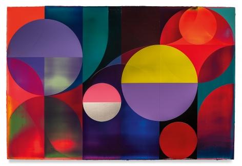 Orbit Walker, 2021, Acrylic on linen, 47 1/4 x 70 7/8 inches, 120 x 180 cm, MMG#32769