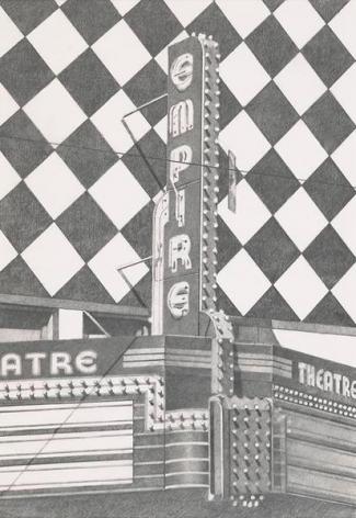 Empire (Cincinnati), 2012, Graphite on Vellum, 22 5/8 x 15 1/2 inches, 57.5 x 39.4 cm, AMY#29113