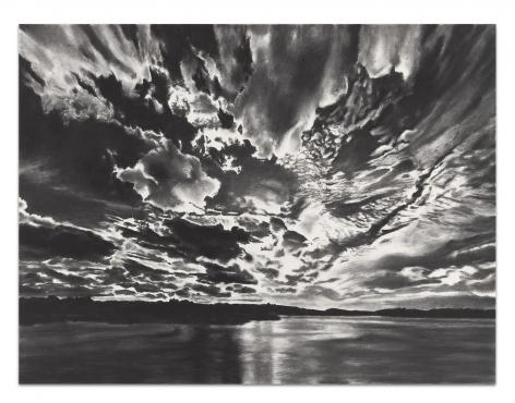 Gloria Mundi, 2019, Charcoal on paper, 37 1/2 x 50 inches, 95.3 x 127 cm,MMG#31977