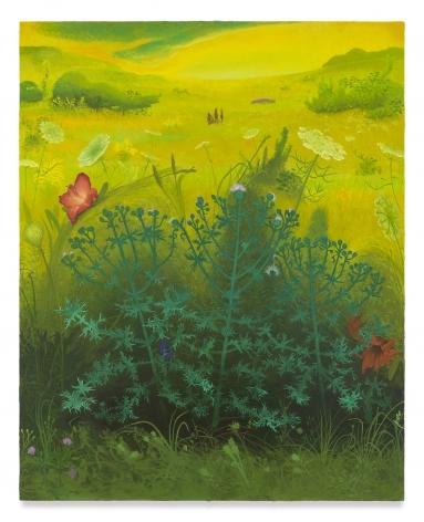 INKA ESSENHIGH, Thistle, 2019, Enamel on canvas, 50 x 40 inches, 127 x 101.6 cm, (MMG#31633)