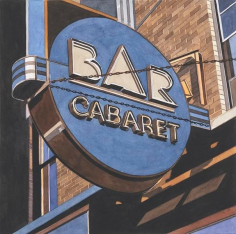 Bar Cabaret, 2014, Watercolor on Arches, 15 3/4 x 15 7/8 inches, 40 x 40.3 cm, AMY#29110