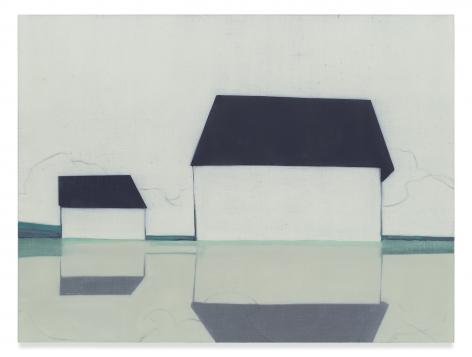 Suzanne Caporael, 696 (Glimpse, Valley Farm Rd.), 2014, Oil on linen