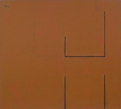 ROBERT MOTHERWELL, Open No. 89, 1969, Acrylic and charcoal on canvas, 54 x 60 inches, 137.2 x 152.4 cm, A/Y#18981