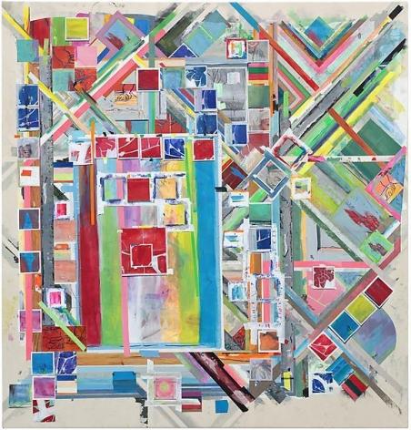 bluetorednude, 2014, Acrylic on canvas, 67 x 64 inches, 170.2 x 162.6 cm, A/Y#21479