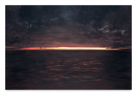 Sunset, 2018, Oil on linen, 72 x 108 inches, 182.9 x 274.3 cm,MMG#31251