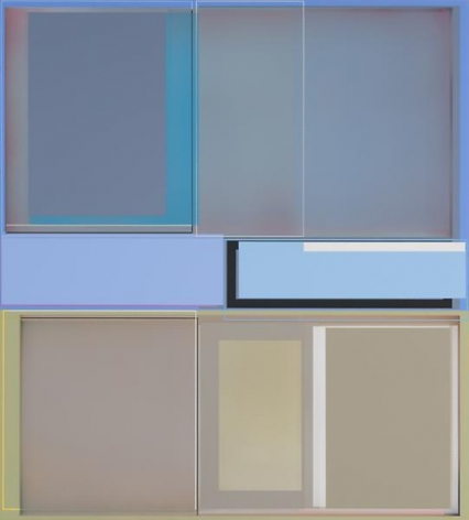 Patrick Wilson, Here and Now, 2014, Acrylic on canvas, 41 x 37 inches, 104.1 x 94 cm, A/Y#21539