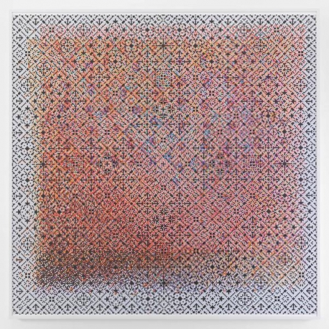 Crossword, 2015, Watercolor on paper mounted on archival Tycore, 75 1/2 x 76 1/4 inches, 191.8 x 193.7 cm, AMY#27930