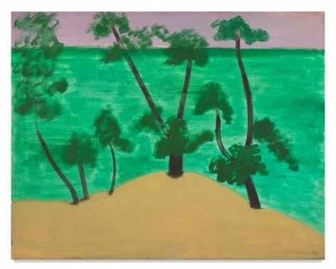 Milton Avery, Trees by the Southern Sea, 1959, Oil on canvas, 30 x 38 inches, 76.2 x 96.5 cm, MMG#32455