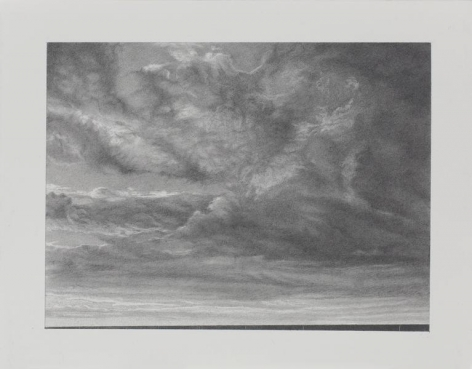 Clouds #4, 2013, Graphite on paper, 8 1/2 x 11 inches, 21.6 x 27.9 cm, A/Y#21665
