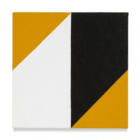 Frederick Hammersley, Flex, 1984 - 92, Oil on linen on panel, 7 x 7 inches