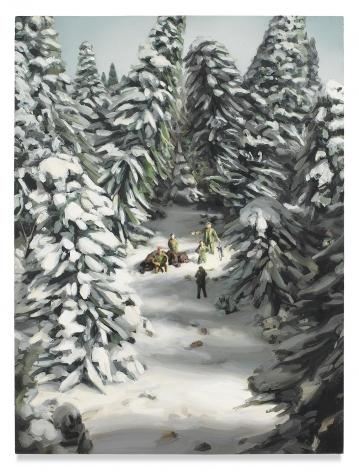 Amy Bennett, Bear Hunt, 2017, Oil on panel
