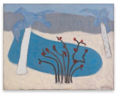 Milton Avery, Florida Lake, 1953, Oil on canvas, 31 x 40 inches, 78.7 x 101.6 cm, AMY#29602