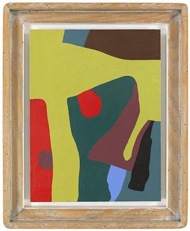 """""""Breed apart,"""" 1988 #4, Oil on panel, framed: 16 7/8 x 13 3/4 inches, 42.9 x 34.9 cm, A/Y#19834"""