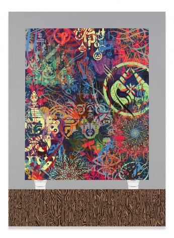 Ryan McGinness, Memories Now, 2016, Acrylic on wood panel, 69 1/2 x 51 1/8 inches, 176.5 x 129.9 cm, MMG#31348