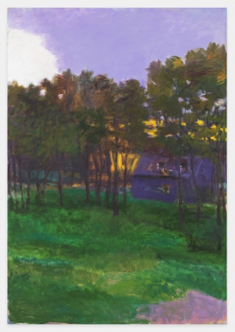 Barn Hidden Among Trees, 1998, Oil on canvas, 52 x 36 inches, 132.1 x 91.4 cm,MMG#31019