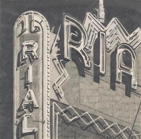 Ria, 1985, Graphite on Vellum, 9 3/4 x 9 3/4 inches, 24.8 x 24.8 cm, AMY#29125