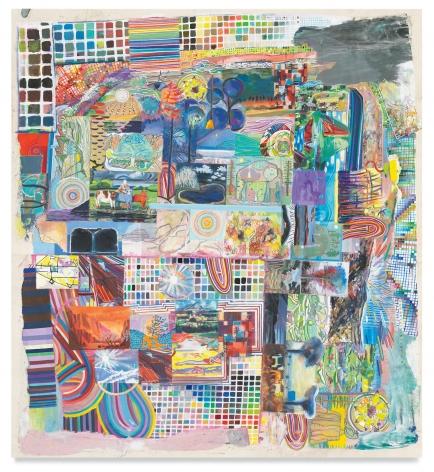 misreadinglandscapeintoart, 2021, Acrylic on canvas, 53 1/2 x 49 1/4 inches, 135.9 x 125.1 cm, MMG#33059