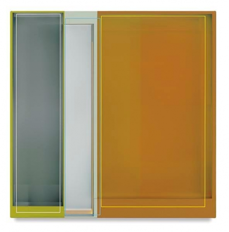 Slice, 2016, Acrylic on canvas, 22 x 22 inches, 55.9 x 55.9 cm, AMY#28502