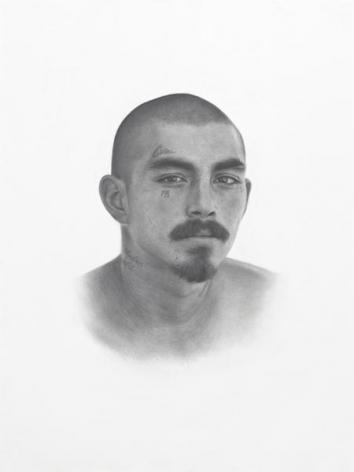 Patrick Lee, Deadly Friends (Eva), 2013, Graphite on paper, 40 x 30 inches, 101.6 x 76.2 cm, A/Y#21960