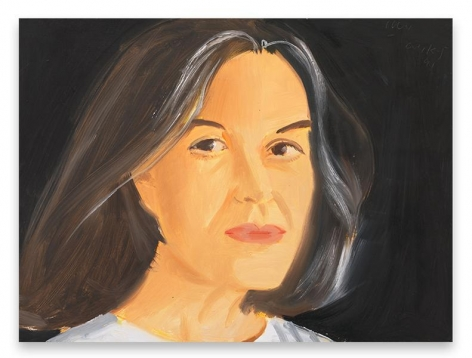 Alex Katz, Ada, 1991, Oil on board, 12 x 16 inches, 30.5 x 40.6 cm, AMY#29270