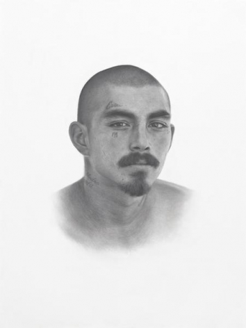 Deadly Friends (Eva), 2013, Graphite on paper, 40 x 30 inches, 101.6 x 76.2 cm, MMG#21960