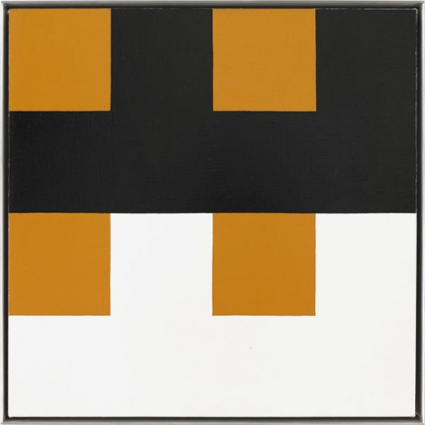 """""""Double feature,"""" 1994 #3, Oil on linen, framed: 20 3/4 x 20 3/4 inches, 52.7 x 52.7 cm, A/Y#16078"""