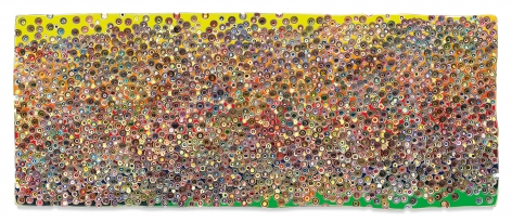 INTOTHERAINBOWVEIN (CYCLESOFOPPOSITION), 2018, Epoxy resin and pigments on wood,48 x 120 inches,121.9 x 304.8 cm,MMG#30507