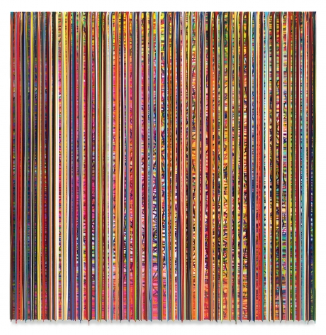 DERWUNSCHTEILZWEI (thewhishparttwo), 2020, Epoxy resin and pigments on wood, 72 x 72 inches, 182.9 x 182.9 cm,MMG#32953