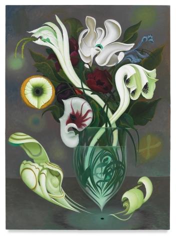 Full Bloom, 2020, Enamel on canvas, 60 x 44 inches, 152.4 x 111.8 cm,MMG#32212