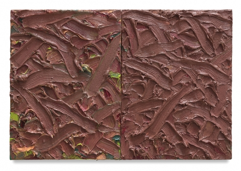 Abstract Diptych #30, 2016, Oil on canvas on wood panel, 15 x 22 inches, 38.1 x 55.9 cm, MMG#30165