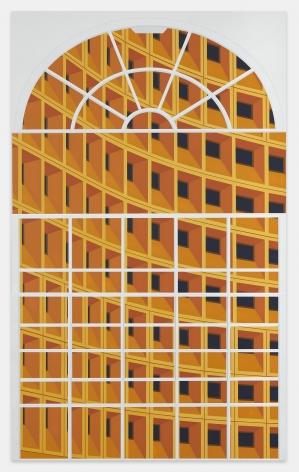 Robert C. Weaver Building, Washington, D.C., 2019, Acrylic on dibond, 49 x 31 1/2 inches, 125 x 80 cm,MMG#32000